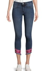 Nwt Buffalo Bitton Hope crop skinny jeans mid rise